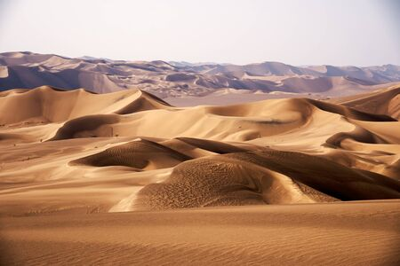 the shape of sand dunes in lut desert