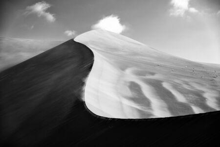 the shape of sand dunes in lut desert Reklamní fotografie