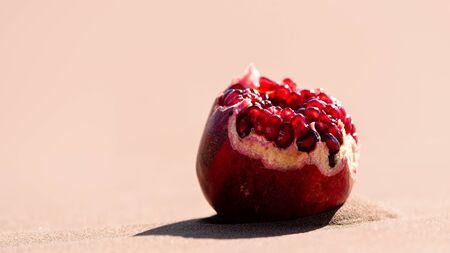Pomegranate on sands in lut desert