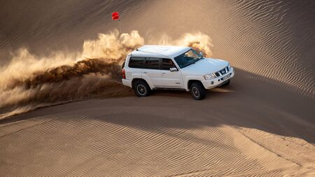 nissan patrol super safari in lut desert climbing sand dunes