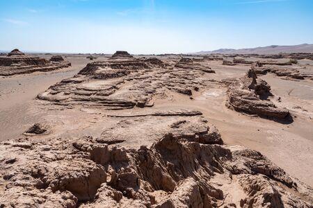 the formation of sand stones in lut desert Reklamní fotografie
