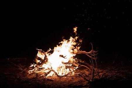 a very big fire with back background Reklamní fotografie