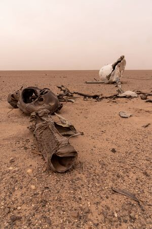 the parts of satellite in the lut desert Reklamní fotografie