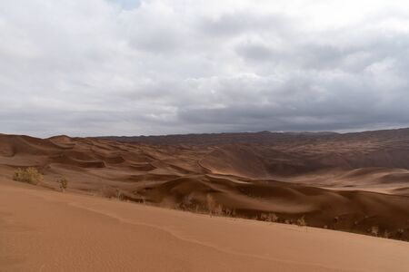 the shape of sand dunes in lut desert Reklamní fotografie