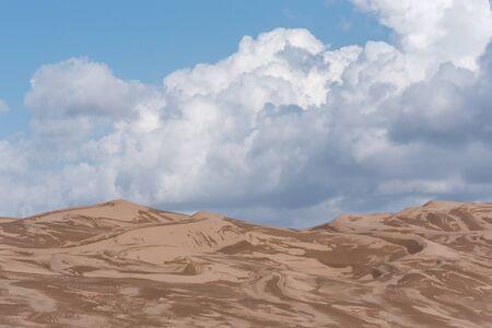 after the rain wet sands in lut desert