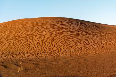 the footprint of wind in the lut desert Reklamní fotografie