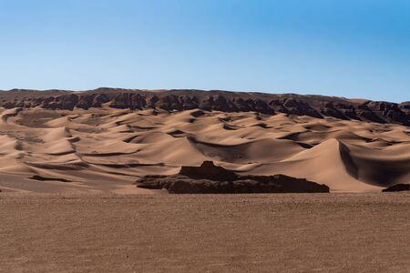 the wet sand stones in lut desert Reklamní fotografie