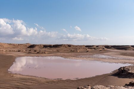 the rain water in lut desert in iran