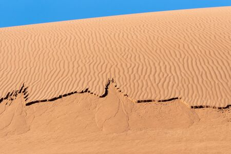 the footprint of wind in the lut desert