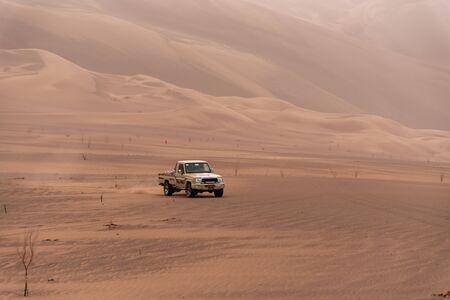 zahedan, baluchestan/iran-11/24/2018 adventure in Lut desert with a toyota truck