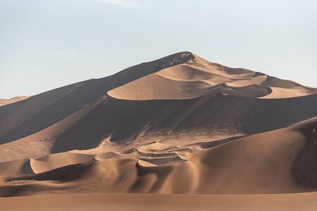 the shapes of sand dunes in Lut desert
