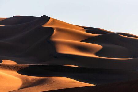 the shapes of sand dunes in Lut desert Reklamní fotografie