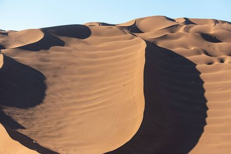 the shapes of sand dunes in Lut desert