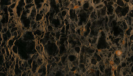 black onyx: Beautiful closeup black marble with detailed golden veins texture Stock Photo