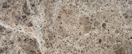 Beautiful brown marble surface with gravel chaotic texture Stock Photo