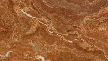 Telha de mármore marrom bonita com veias brancas Foto de archivo