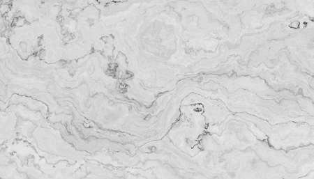 Patrón de mármol blanco con vetas rizadas en gris y negro. Textura abstracta y fondo. Ilustración 2D