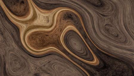 Texture de racines d & # 39 ; arbre avec des lignes ondulées et des anneaux d & # 39 ; âge abstraits. fond abstrait. illustration 2d Banque d'images - 97434575