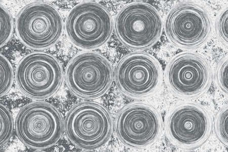 Parametric grid of generate wooden rings. Abstract monochrome background. 2d illustration.