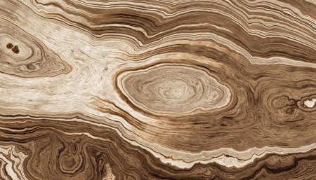 Texture di radici dell'albero con linee ondulate e anelli di età. Illustrazione astratta background.2d Archivio Fotografico