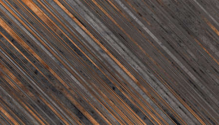Dark grey and brown Wooden planks texture. Abstract background. 2d illustration