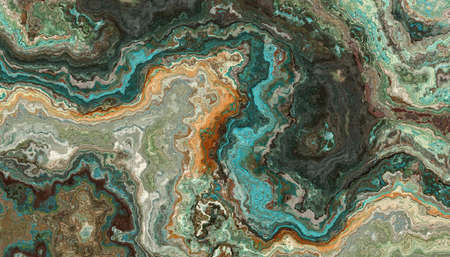 The tile of turquoise raw gemstone texture. Colorful background. 2d illustration