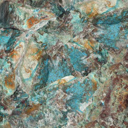 Turquoise raw gemstone texture. Colorful background