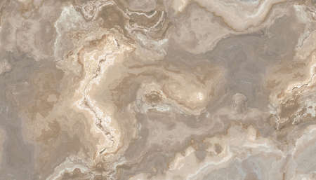 Beige marble pattern with curly veins. Abstract texture and background. Soft colored 2D illustration