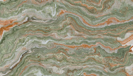 Onyx tile with green and orange weaves. Background texture for design.