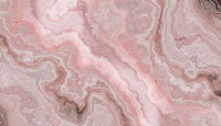 The tile of rose Onyx abstract texture. Colorful background. 2D illustration. Natural beauty Archivio Fotografico