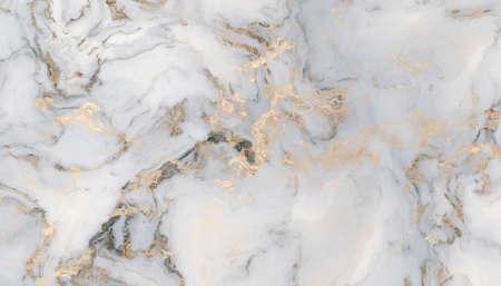 Motivo in marmo bianco con inclusioni dorate. Struttura e fondo astratti. Illustrazione 2D Archivio Fotografico