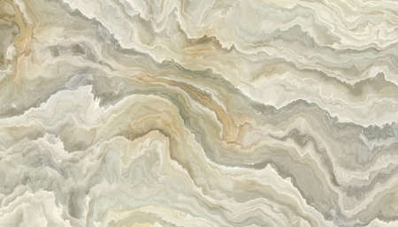 The tile of abstract white onyx background  with wavy pattern. 2D illustration. Natural beauty 写真素材
