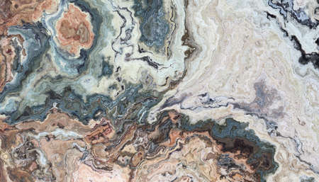 Multicolor marble abstract patter. Texture for design. 2D illustration. Natural beauty 写真素材