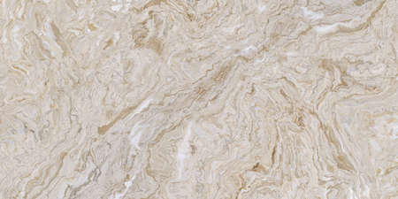 Beige marble pattern with curly white and orange veins. Abstract texture and background. Soft colored 2D illustration 免版税图像