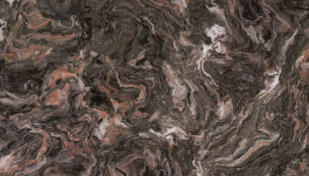 Brown marble pattern. Abstract texture and background. 2D illustration 免版税图像