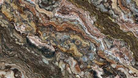 Multicolor marble abstract pattern. Texture and background. 2D illustration. Natural beauty 免版税图像