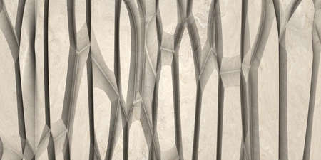The Panel of Beige marble Carved with cnc machine. Abstract texture and background. Soft colored 2D illustration