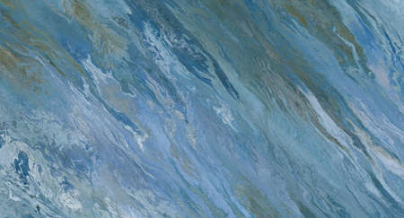 Blue marble tile with white veins. 2d illustration Stock fotó