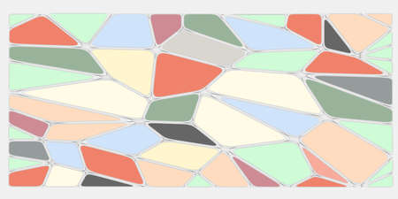 Color abstract voronoi background. 3d rendered illustration Stock fotó