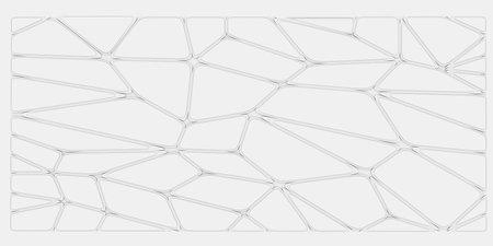 White abstract voronoi background. 3d rendered illustration