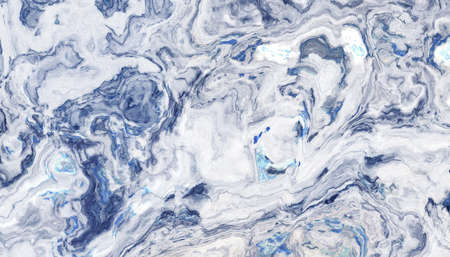 White marble tile with blue veins. Texture and background. 2d illustration