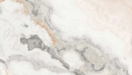 Beige marble pattern with curly grey and orange veins. Abstract texture and background. Soft colored 2D illustration Stock fotó