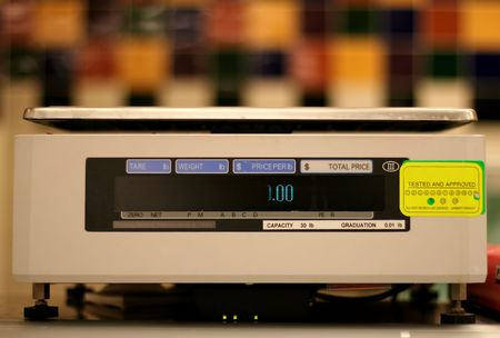 Weight scale used in grocery
