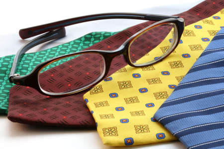 constitutionality: Row of ties and glasses