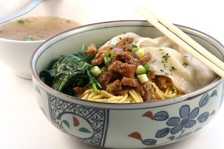 국수 그릇, 아시아 요리 스톡 콘텐츠