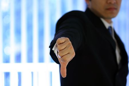 disapprove: Disappointed businessman Stock Photo