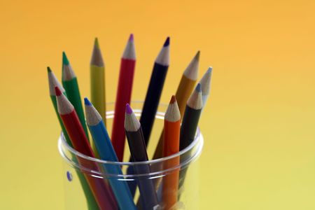Bunch of color pencils
