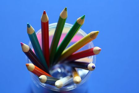 Bunch of pencil colors, showing variety Stok Fotoğraf