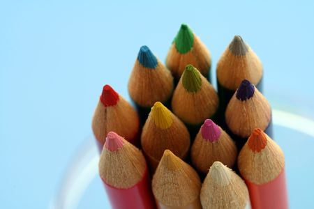 Variety of pencil colors Stok Fotoğraf