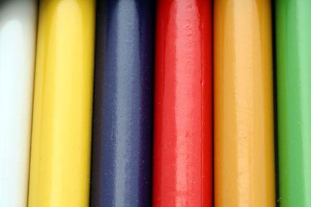 Close up of color pencils